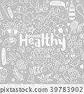 Healthy lifestyle concept,Hand drawn  39783902