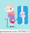 old woman with osteoporosis 39786272