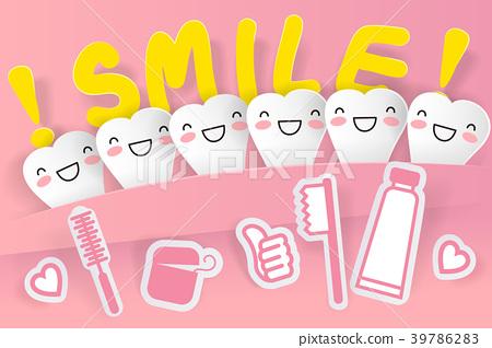 cute cartoon tooth 39786283