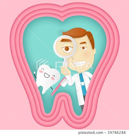 cute cartoon tooth concept 39786288