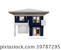 House 3d modern rendering on white background 39787295