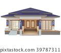 House 3d modern rendering on white background 39787311