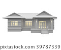3D rendering of a white house 39787339