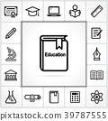 icon, vector, education 39787555