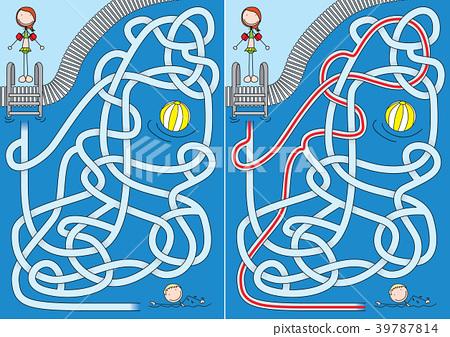 Pool maze 39787814