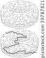 甜甜圈 卡通 教育 39787821