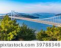 """""""จังหวัด Okayama"""" ที่สะพาน Seto Ohashi และ Washuzan 39788346"""