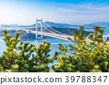 """""""จังหวัด Okayama"""" ที่สะพาน Seto Ohashi และ Washuzan 39788347"""