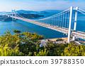 """""""จังหวัด Okayama"""" ที่สะพาน Seto Ohashi และ Washuzan 39788350"""