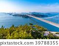"""""""จังหวัด Okayama"""" ที่สะพาน Seto Ohashi และ Washuzan 39788355"""