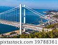 """""""จังหวัด Okayama"""" ที่สะพาน Seto Ohashi และ Washuzan 39788361"""