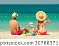 beach, family, mother 39788371