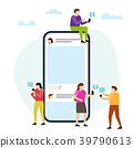 Social media with phone and small people around 39790613