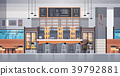 Modern Cafe Or Restaurant Interior With Bar 39792881