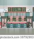 Empty Bar Or Coffee Shop Interior Cafe Counter 39792903