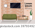 Modern Loft Living Room Interior With Couch, Tv 39793492