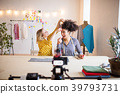 Young creative women in a studio, startup business 39793731