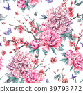 watercolor, pattern, floral 39793772