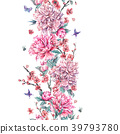 watercolor, pattern, floral 39793780