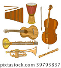 Set of Musical Instruments in Hand-Drawn Style 39793837