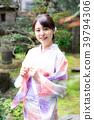 浴衣 日本園林 日式花園 39794306