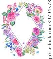 watercolor, rose, floral 39794578