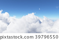 Blue sky with clouds 3D render 39796550
