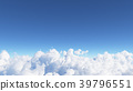 Blue sky with clouds 3D render 39796551