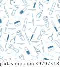 Seamless pattern with variety tools for manicure 39797518