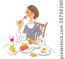 ผู้หญิงที่กินข้าว 39798390