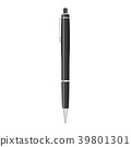 Black pen isolated on white, Vector illustration 39801301