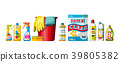 Collection of different cleaning agents. 39805382
