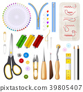 Sewing Isolated Icons Set 39805407