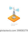 Antenna tower isometric 39808379