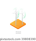Wind turbine isometric icon 3D 39808390