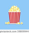 Popcorn snack in flat style 39809944