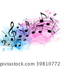 music background watercolor 39810772