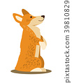 Dog Standing on Paws, Poster Vector Illustration 39810829
