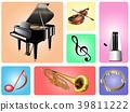樂器(鋼琴,小提琴,小號,手鼓,節拍器) 39811222