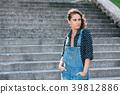 Beautiful Portrait Of Pretty Young Caucasian Woman 39812886