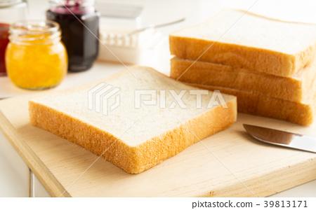 麵包,切菜板,方形麵包,主食,果醬 39813171