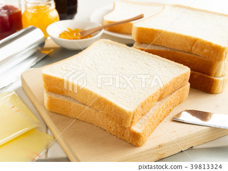 麵包,切菜板,方形麵包,主食,果醬 39813324