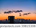 โตเกียวทิวทัศน์ยามค่ำคืนของโตเกียวสามารถมองเห็นภูเขาไฟฟูจิ 39815306