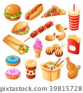 Fast Food Icons Set 39815728