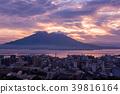 在早晨的陽光下鹿兒島櫻島坂灣的早晨 39816164