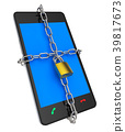 Locked Phone Indicates Protect Password And Login 39817673