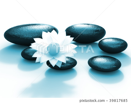 Spa Stones Indicates Floral Pebble And Calmness 39817685