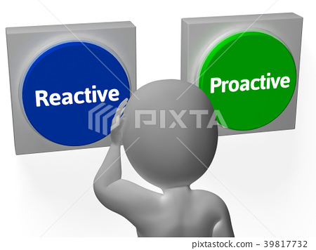 Reactive Proactive Buttons Show Taking Charge 39817732
