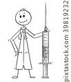 syringe, doctor, cartoon 39819232