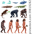 Darwin Evolution Icon Set 39819282